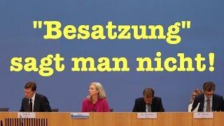 """Pressekonferenz: """"Das Diktum der Kanzlerin gilt"""" und """"Besatzung"""" sagt man nicht!  15.10.2015"""