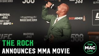 The Rock announces he's making a movie about MMA legend Mark Kerr