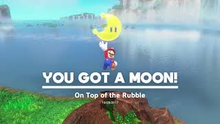Super Mario Odyssey - Cascade Kingdom - Waterfall Basin Power Moons