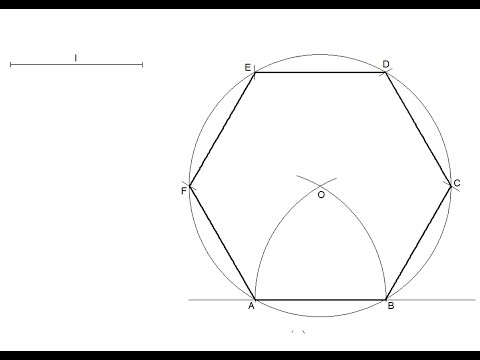 how to draw an easy hexagon
