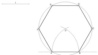How to draw a regular hexagon knowing the length of one side