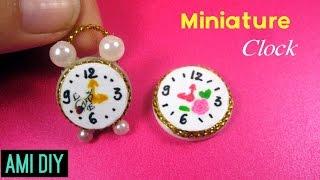 DIY Miniature Clock- miniature dollhouse | Cách làm đồng hồ treo tường và đồng hồ để bàn thu nhỏ