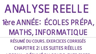 EXERCICES ANALYSE 1ERE ANNEE CHAPITRE2 LECON1 SUITES REELLES