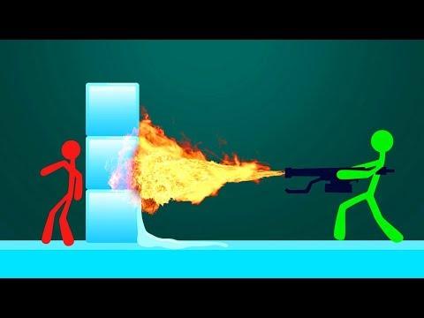 СМОЖЕШЬ ПРОБИТЬ ЭТУ СТЕНУ! БОЙ СТИКМЕНОВ! (Stick Fight 2)