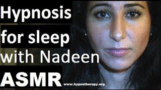ASMR Hypnosis: Fall asleep fast with female stage hypnotist Nadeen Manuel #hypnosis #ASMR #NLP