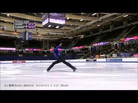 しっかり観てみよう 宇野昌磨2015世界ジュニアフィギュアスケート選手権SP『ヴァイオリンソナタ第9番』