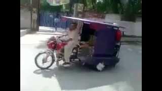 [Funny video Amazing Rikshaw Stunt On Road] Video