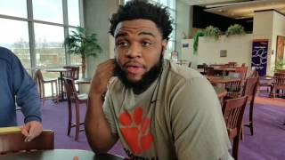 TigerNet.com - Christian Wilkins on the grab