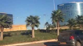 Drive from Sheraton to stade olympique 40.000 a ORAN (HD) 01/11/2014