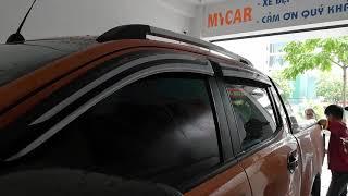 Hotline 0986921273 lắp vè chưa mưa cửa xe oto ford ranger, lắp che mưa trên cửa ford ranger mới