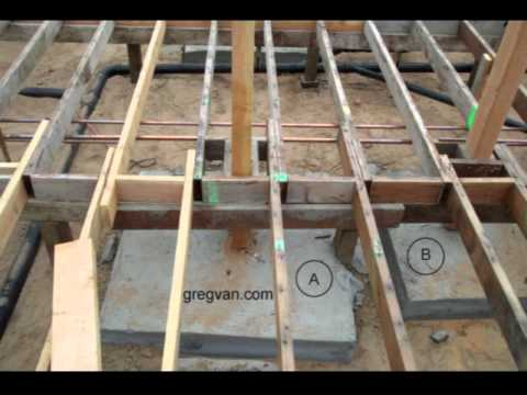 Raised foundation concrete pier connection tip for Raised pier foundation