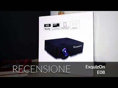 Recensione ExquizOn E08 proiettore low cost