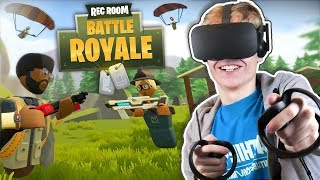 BATTLE ROYALE IN VIRTUAL REALITY! | Rec Room: Fortnite VR (Oculus Rift + Touch Gameplay)