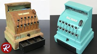 1950s Vintage Toy Cash Register Restoration - Tom Thumb