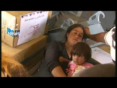 Channel 4 News - Helicopter rescue: with the Yazidis on Mt Sinjar (11/8/14)