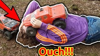Kid gets Hair stuck in RC CAR - EPIC Bash Day Traxxas X-Maxx TRX-4 Stampede HPI Savage