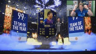 OMG 99 TOTY MESSI IN A PACK! MY BEST TEAM OF THE YEAR PACK EVER! FIFA 19 ULTIMATE TEAM