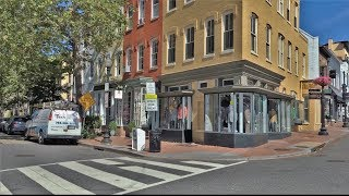 Driving Downtown - Georgetown 4K - Washington D.C. USA