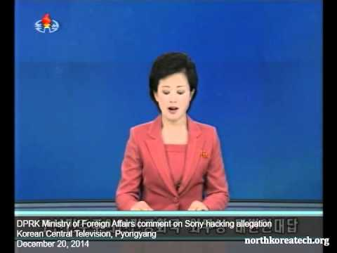 North Korean TV reads statement from Foreign Ministry on Sony hack