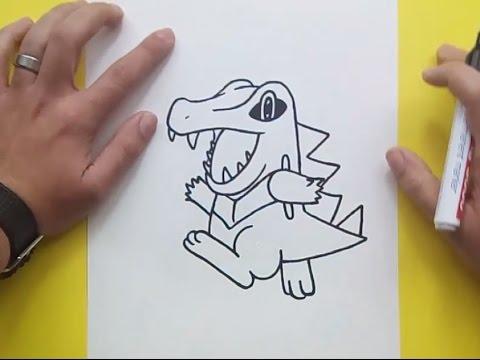 Como dibujar a Totodile paso a paso - Pokemon | How to draw Totodile - Pokemon