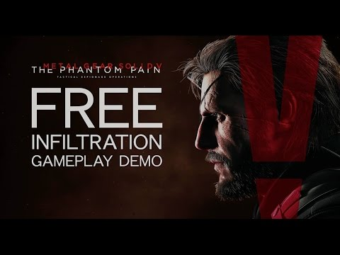 Metal Gear Solid V - Freedom of Infiltration Gameplay Demo (English Language)