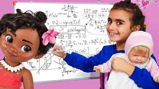 Öğretmen Mira Kardeşi ve Moana 'ya Ders Anlatırsa   Eğitici ve Eğlenceli Çocuk Videosu   UmiKids