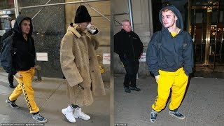Justin Bieber skateboards down bustling streets of NYC to meet wife Hailey Baldwin for lunch