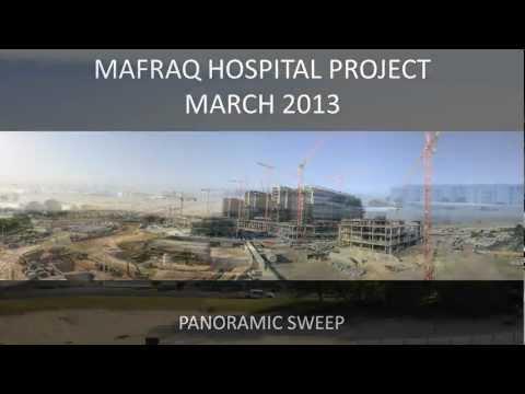 Mafraq Hospital Project Abu Dhabi panorama March 2013