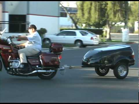0 High style motorcycle cargo pull behind trailer for your bike hotrod or sports car