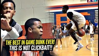The BEST In-Game Dunk EVER By a High Schooler!!! NOT CLICKBAIT!!! HUMANITY Has EVOLVED!!!!