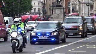 Police & Secret Service escorting Michelle Obama in London