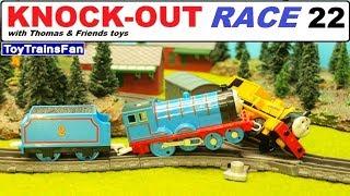 Thomas & Friends KNOCK-OUT RACE #22 - toy trains for kids. Pociągi zabawki Tomek i Przyjaciele