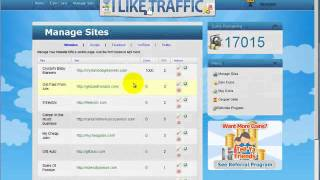 Free hits to your websites - How to get traffic for free using ILikeTraffic