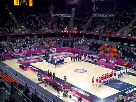 London 2012 Olympic Basketball - Russian Federation vs Great Britain - National Anthems