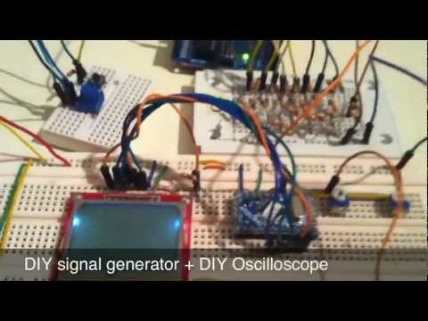 R-2R DAC / Arduino signal generator + DIY Oscilloscope