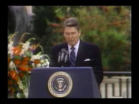 ronald reagan on the 40th anniversary of Remarks at a ceremony commemorating the 40th anniversay of the normandy invasion, d-day june 6, 1984 pointe du hoc we stand on a lonely, windswept point on the northern shore of france the air is soft, but forty years ago at this moment, the air was dense with.