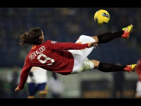 Gol Bellissimo di Osvaldo in Rovesciata!  Roma Catania 2-2