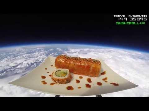 Sushi Roll lanza el nuevo Rocket Roll al espacio.