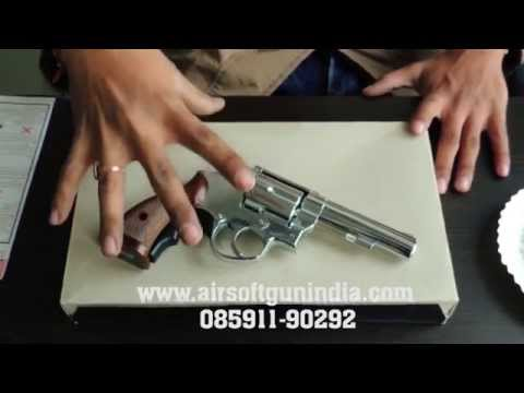 HFC HG-131 357 Gas Revolver (Chrome) by airsoft gun india