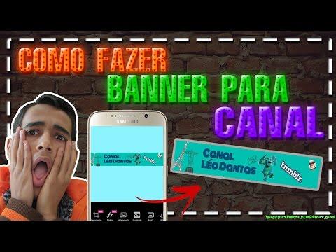 Como Fazer Capa/Banner Para o Canal do YouTube Pelo Celular thumbnail