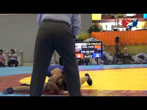 2012 Junior Worlds - FW 59kg - Jenna Burkert (USA) vs. Jiamin Feng (CHN)