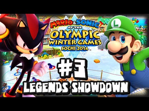 Mario & Sonic At the 2014 Sochi Winter Olympic Games - (1080p) Legends Showdown Part 3