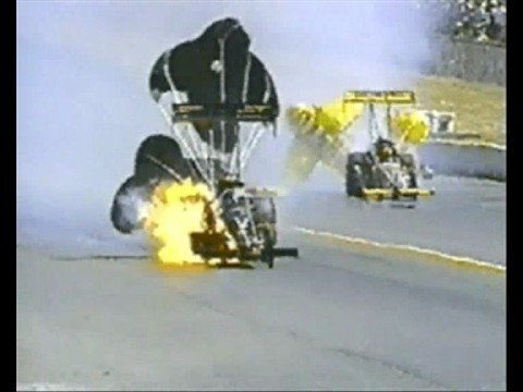 1997 Auto Racing Airplane Crash on Nhra Drag Racing Crash Compilation From 1997