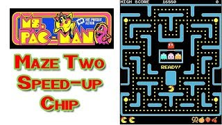 Ms. Pac-Man Level TWO with Speed Up Chip Installed in my Arcade Machine