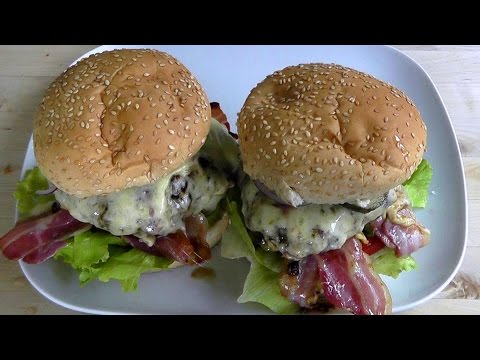 Burger Duluxe Bacon Cheese Recipe How to cook tasty Burgers