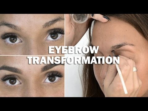 Eyebrow Transformation (with subs) - Linda Hallberg Makeup Tutorials