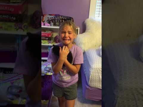 Mira la adorable reacción de una niña al descubrir su regalo