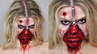 Unzipped Zipper Face SFX Makeup Tutorial | Halloween