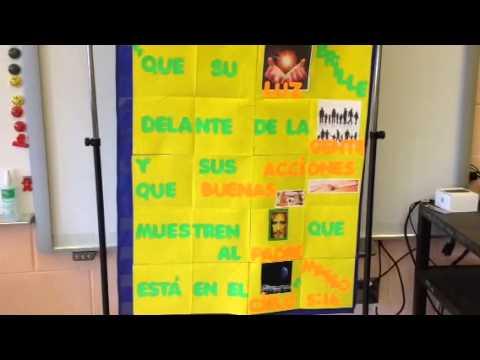 Spanish Bible verse 2014 Charlotte Christian School Lower S - 09/10/2014