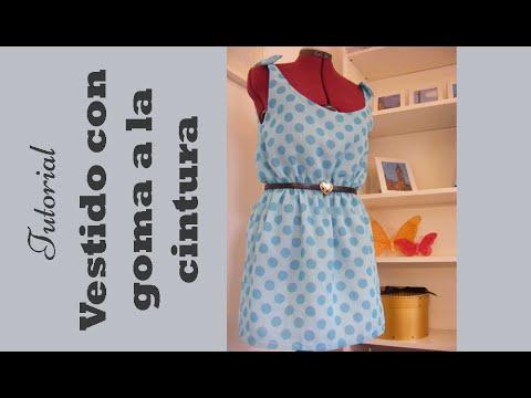Vestido con goma en la cintura tutorial paso a paso para - Como coser cortinas paso a paso ...
